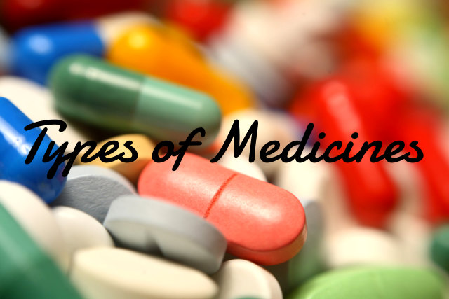 different types of medicines